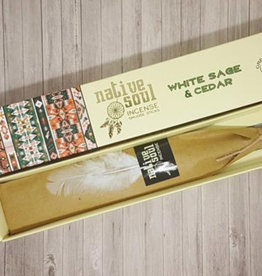 Native Soul White Sage & Cedar Native Soul Incense Sticks