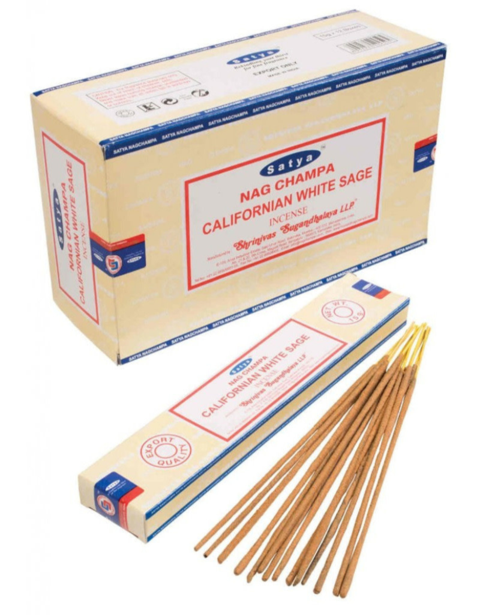 Satya Californian White Sage SATYA Incense Sticks