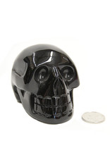 Black Obsidian Skull 3.5in - $155