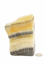 Black Onyx with Yellow Calcite Freeform