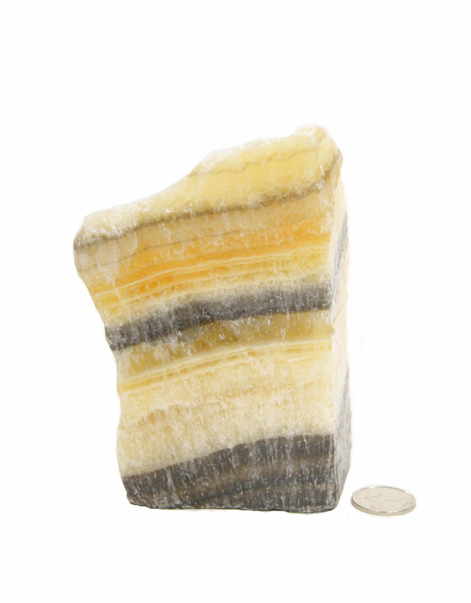 Black Onyx with Yellow Calcite Freeform $65