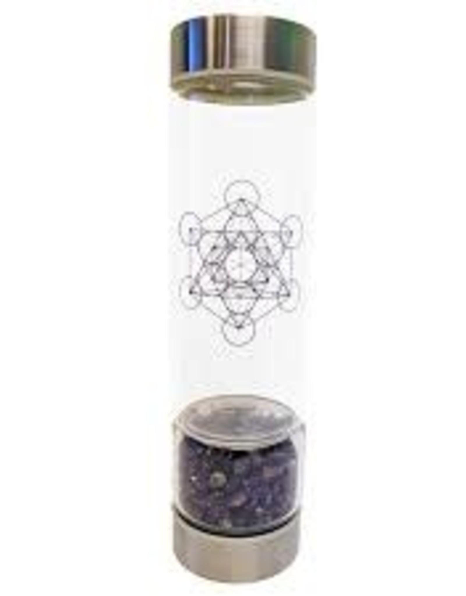 Zenature Amethyst Crystal Infuser Water Bottle 500 ml