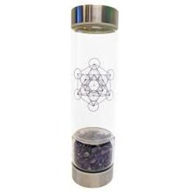 Zenature Amethyst Crystal Infuser Water Bottle 500 ml