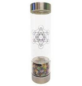 Zenature Chakra Crystal Infuser Water Bottle 500 ml
