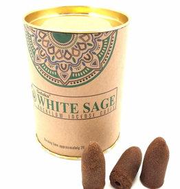 GOLOKA White Sage GOLOKA Backflow Incense Cones