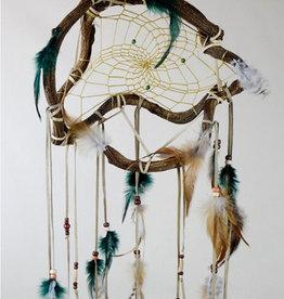 """Monague Native Crafts Green Wanderer Dream Catcher - Medium 12"""""""