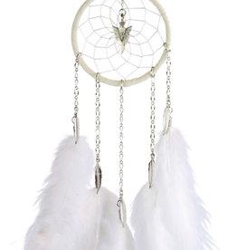 "Monague Native Crafts White Chain 3"" Dream Catcher"