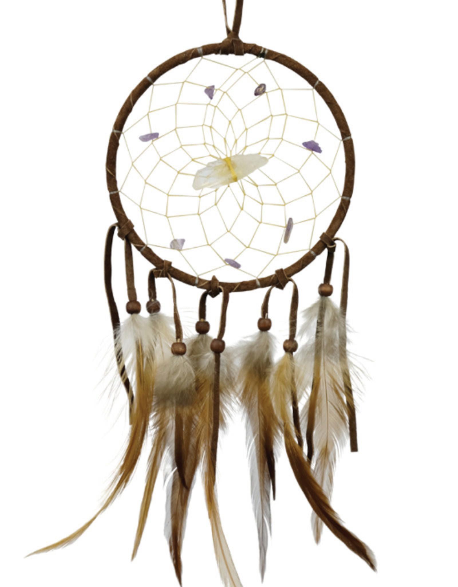 "Monague Native Crafts Brown 4"" Vision Seeker Dream Catcher"