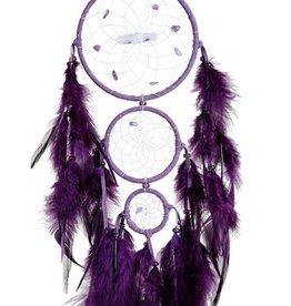 "Monague Native Crafts Purple Generations Dream Catcher - 4"""