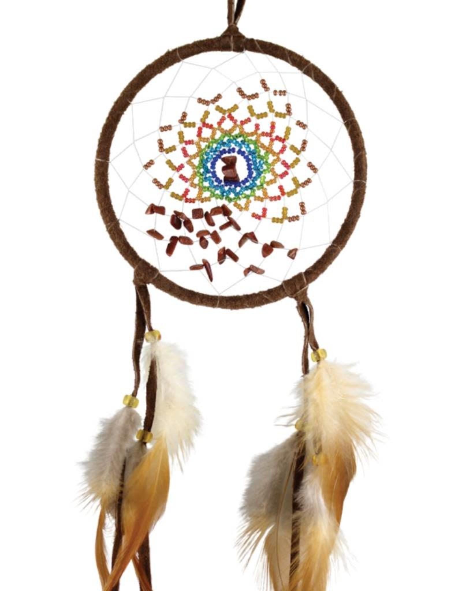 "Monague Native Crafts Brown Energy Flow 4"" Dream Catcher"