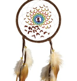 "Monague Native Crafts Brown Energy Flow 4"" Dream Catcher"