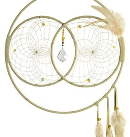 "Monague Native Crafts Tan Soul Connection 12"" Dream Catcher"