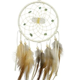 "Monague Native Crafts White Vision Seeker 4"" Dream Catcher"