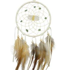"Monague Native Crafts White Vision Seeker 4"" Dream Catcher"
