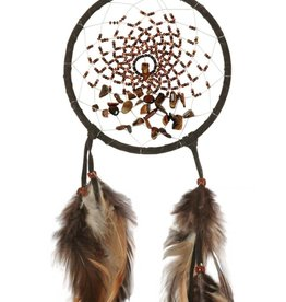 "Monague Native Crafts Dark Brown Energy Flow 4"" Dream Catcher"