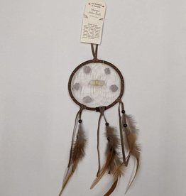 "Monague Native Crafts Brown Vision Seeker 4"" Dream Catcher"