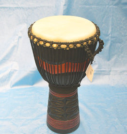 Groove Masters Natural Wood Djembe Drum B  - 2 Ft tall