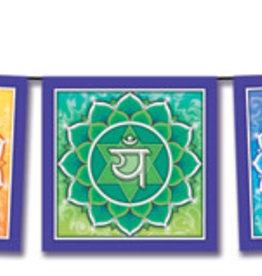 "Mandala Arts Chakra Flag Banner - 5"" X 42"""