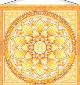 "Mandala Arts Solar Chakra Meditation Banner 15"" x 15"""