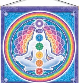 "Mandala Arts Light Body Meditation Banner 15"" x 15"""