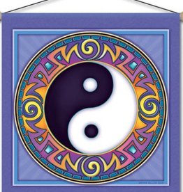 "Mandala Arts Yin Yang  Meditation Banner 15"" x 15"""