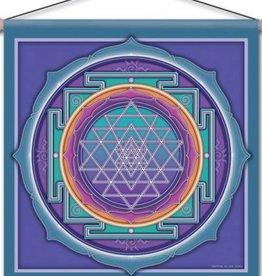 "Mandala Arts Sri Yantra Meditation Banner 15"" x 15"""