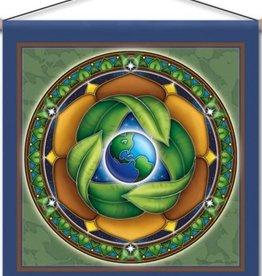 "Mandala Arts Conversation Meditation Banner 15"" x 15"""