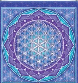 "Mandala Arts Flower of Life Meditation Banner 15"" x 15"""