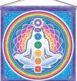 "Mandala Arts Light Body Temple Banner 30"" x 30"""