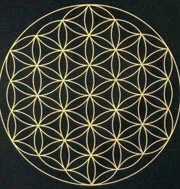Flower of Life Crystal Grid Mat - 12″ x 12″