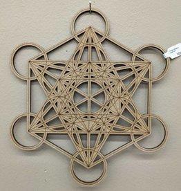 Wooden Metatron Crystal Grid