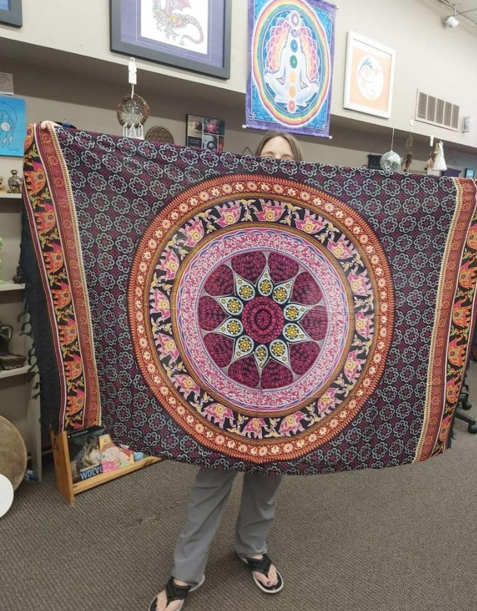 Mandala Sorang with Elephants - Black