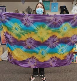Tie Dye Sarong - Purple/Yellow