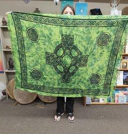 Celtic Cross Sarong  - Lime Green