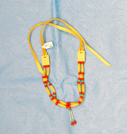Walpole Island Walpole Island Handmade Beaded Necklace - Red/Aqua