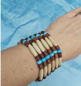 Walpole Island Walpole Island Handmade Beaded Bracelet - Blue