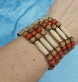Walpole Island Walpole Island Handmade Beaded Bracelet - Red