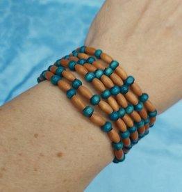 Walpole Island Walpole Island Handmade Beaded Bracelet - Teal