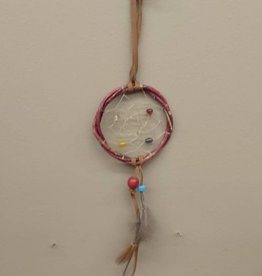 Walpole Island Walpole Island Handmade Willow Dreamcatcher  - Red/Blue Bead
