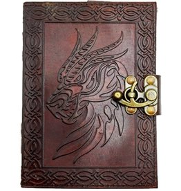 "Fantasy Gifts Celtic Dragon 5"" x 7"" Leather Journal"