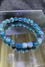 Blue Apatite Tumbled Bracelet 8MM