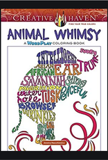 Creative Haven Animal Whimsy Wordplay Coloring Book by Creative Haven