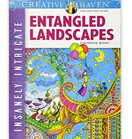 Creative Haven Entangled Landscapes Coloring Book by Creative Haven