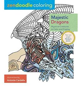Zendoodle Majestic Dragons Coloring Book by Zendoodle