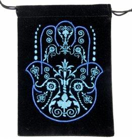 "Fatima Hand / Hamsa Velvet Tarot Bag 5"" x  7"""