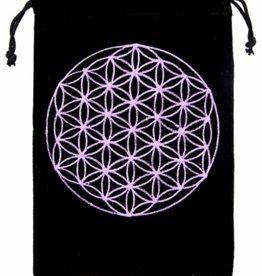 """Flower of Life Velvet Tarot Bag 5"""" x  7"""""""