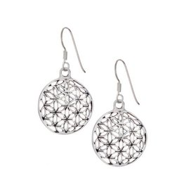 Flower of Life Sterling Silver Earrings