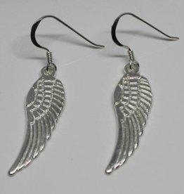 Angel Wings B Sterling Silver Earrings