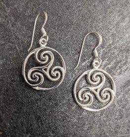 Celtic Swirl Sterling Silver Earrings