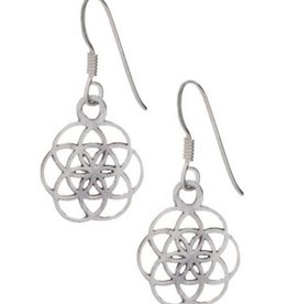 Flower (SEED) of Life Sterling Silver Earrings & Pendant Set